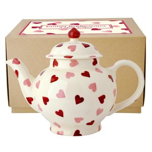 Emma Bridgewater Bridgewater Pink Hearts 4 Cup Teapot