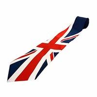 Union Jack Slanting Up Tie on Silk