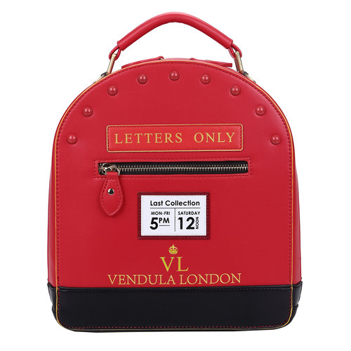 Vendula Post Box Backpack, Crossbody and Grab Bag