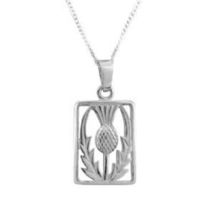Hamilton & Young Scottish Thistle Rectangle Pendant