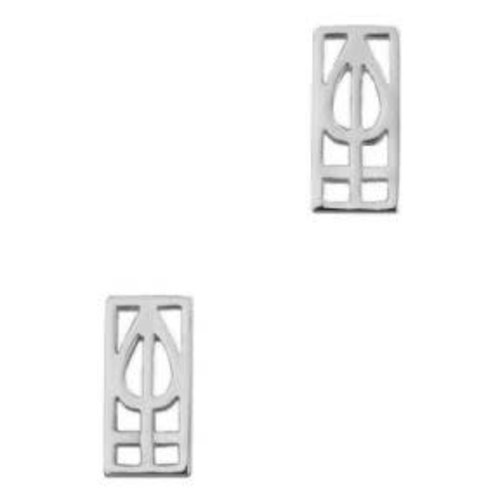 Hamilton & Young Mackintosh Lines Stud Earrings