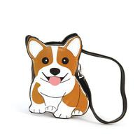 Sleepyville Critters Corgi Dog Zippered Coin Purse Wristlet