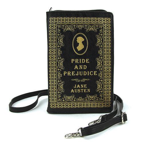 Sleepyville Vintage Pride And Prejudice Book Crossbody Bag