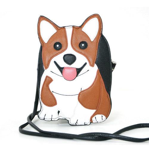 Sleepyville Corgi Dog Shoulder Crossbody Bag