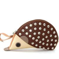 Sleepyville Critter Hedgehog Wristlet with Studs