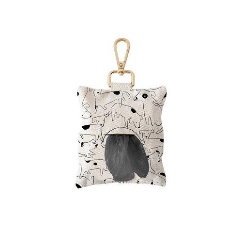 fringe PetShop Nosey Dog Spot Canvas Waste Bag Dispenser
