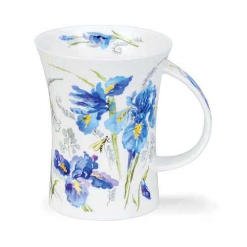 Dunoon Richmond Blue Irises Mug