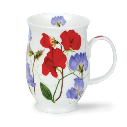 Dunoon Dunoon Suffolk Sweet Peas Red Mug