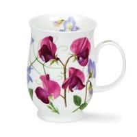 Suffolk Sweet Peas Dark Pink Mug
