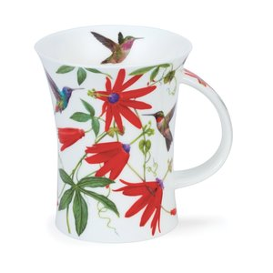 Dunoon Richmond Hummingbirds Red Mug