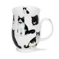 Dunoon Suffolk Cats Black & White Mug