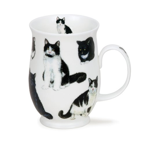 Dunoon Dunoon Suffolk Cats Black & White Mug