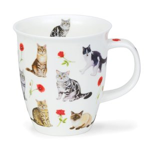 Dunoon Dunoon Nevis Flower Cats Red Mug