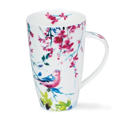 Dunoon Henley Birdsong Pink Mug