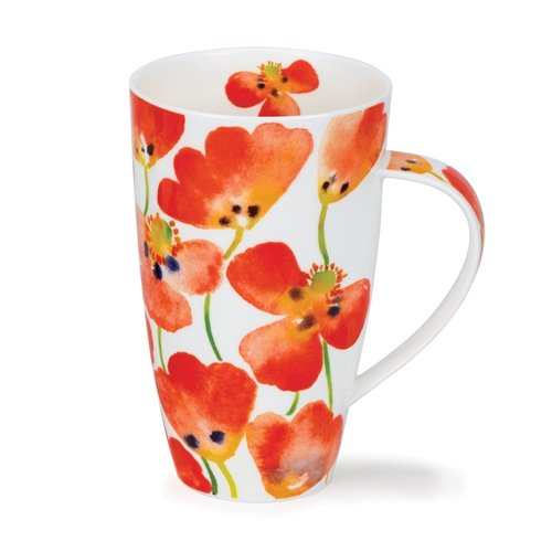 Dunoon Henley Poppyfield Red Mug