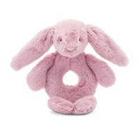Bashful Tulip Pink Bunny Ring Rattle