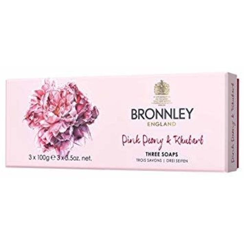 Bronnley Bronnley Pink Peony & Rhubarb Set of 3 Soaps