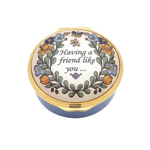 Halcyon Days Halcyon Days Having A Friend Like You Enamel Box