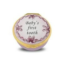 Halcyon Days Baby's First Tooth, Pink