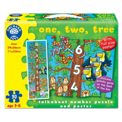Orchard Toys One, Two, Tree Talk About Number Puzzle