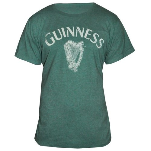 Guinness Guinness Green Vintage Heathered Harp Tee - M