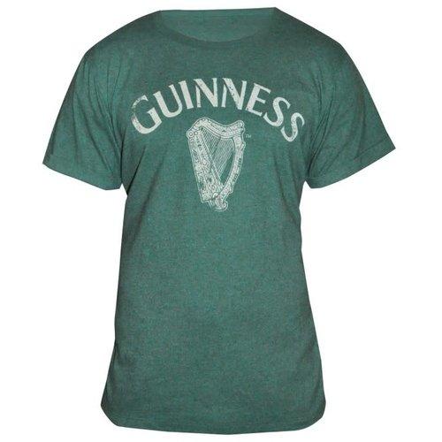 Guinness Guinness Green Vintage Heathered Harp Tee - S