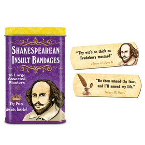 archie mcphee Shakespearean Insult Bandages 15ct