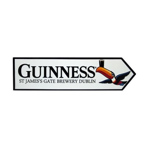 Guinness Metal Road Sign-Toucan St. James Gate
