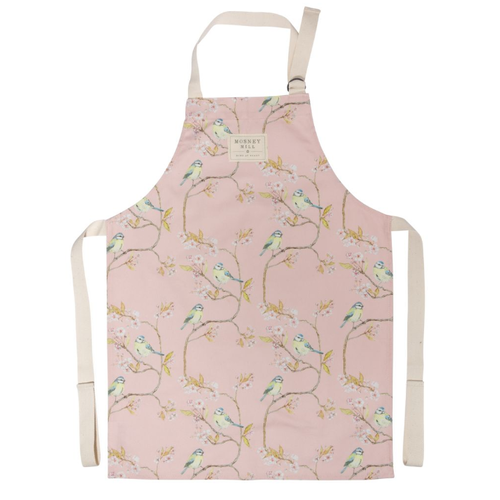 Mosney Mill Mosney Mill Blue Tit on Blossom Ditsy Childs Apron (Pink)