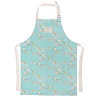 Mosney Mill Blue Tit on Blossom Ditsy Childs Apron Turquoise