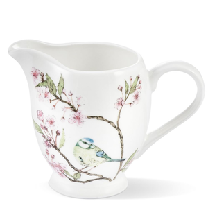 Mosney Mill Mosney Mill Blue Tit on Blossom China Creamer Jug