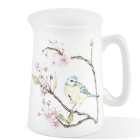 Mosney Mill Blue Tit on Blossom Bone China Jug (Small)