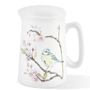 Mosney Mill Mosney Mill Blue Tit on Blossom Bone China Jug (Small)