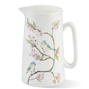 Mosney Mill Mosney Mill Blue Tit on Blossom Bone China Jug (Large)
