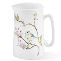 Mosney Mill Blue Tit on Blossom Bone China Jug (Medium)