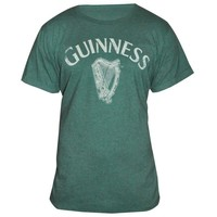 Green Vintage Heathered Harp Tee