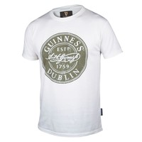 White Distressed Label Bottle Cap Tee