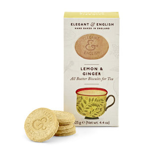 Elegant & English Biscuits - Lemon & Ginger