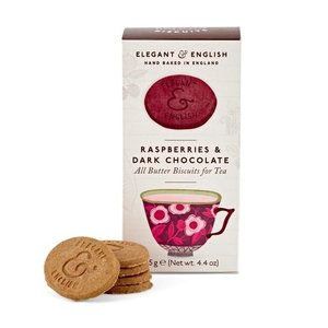 Elegant & English Biscuits - Raspberries & Dark Chocolate