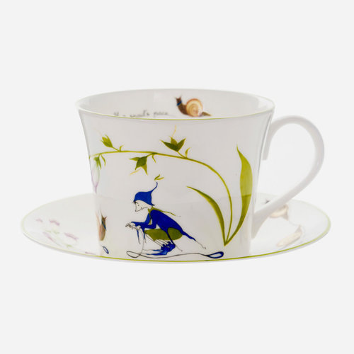 Emma Dunne Limited Emma Dunne Lucy Breakfast Cup & Saucer At A Snails Pace
