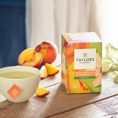 Taylor's of Harrogate Taylors of Harrogate White Hibiscus and Peach Green Tea