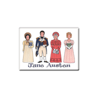 Jane Austen Fridge Magnet (Jumbo 90 x 65mm)