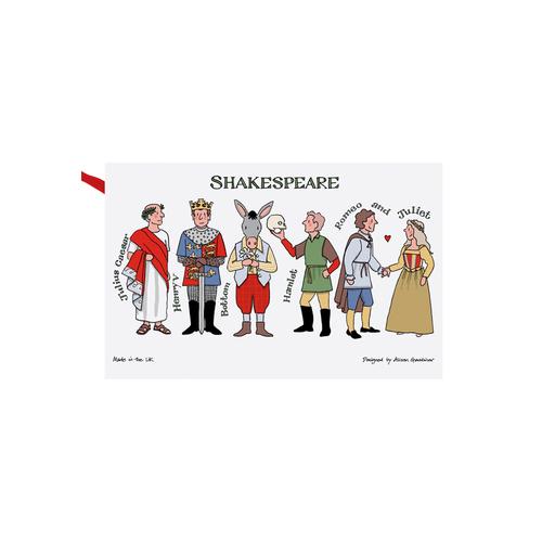 Alison Gardiner Alison Gardiner Shakespeare Characters Tea Towel