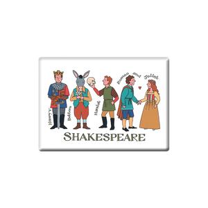 Alison Gardiner Alison Gardiner Shakespeare Fridge Magnet (Jumbo 90 x 65mm)