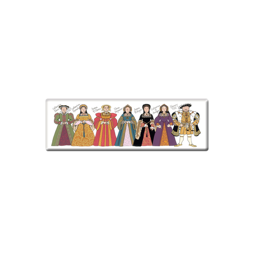 Alison Gardiner Henry the VIII and His Wives Fridge Magnet