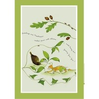 Emma Dunne Spiderlings & Mosshoppers Tea Towel