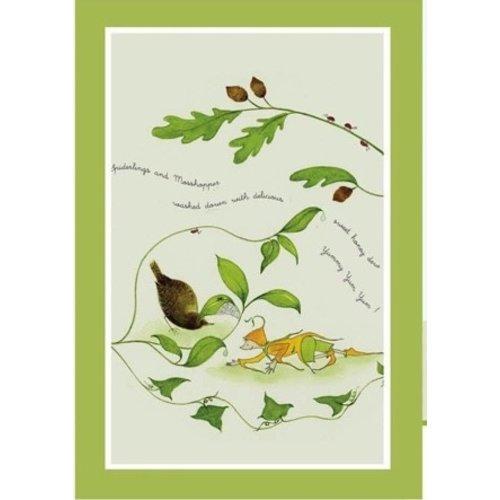 Emma Dunne Limited Emma Dunne Spiderlings & Mosshoppers Tea Towel