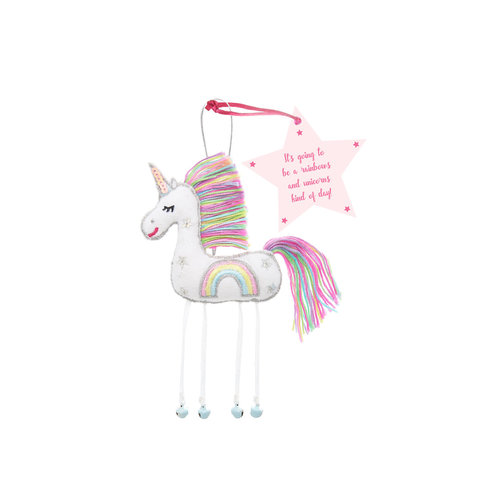 Believe You Can Believe You Can It's Going to be Rainbows and Unicorns Kind of Day Fairy Ornament