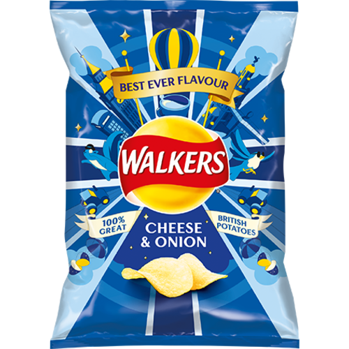 Walker's Walkers Cheese & Onion Crisps