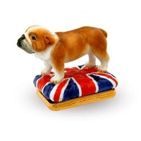 Halcyon Days British Bulldog Trinket Box